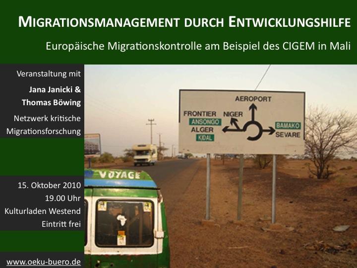 migrationsmanagement durch entwicklungshilfe